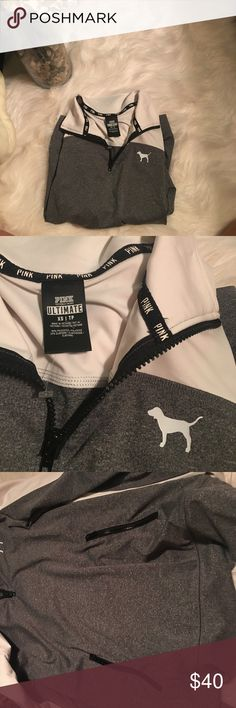 Pink Victoria Secret - Ultimate Workout Pullover ✔️trades are available, only fair pricing  ✔️if posted, item is available  ✔️no holds, or drama ✔️make an offer, will most likely accept!  ✔️ all items are in new or great condition PINK Victoria's Secret Jackets & Coats