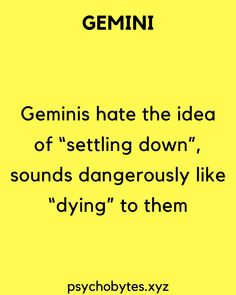 Psychological facts about Gemini