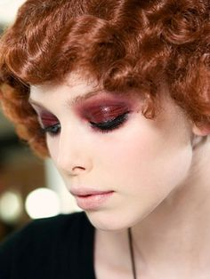 Chanel 1920s Make Up, greased lids! Love!