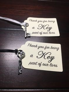 Silver Key thank you Tags, Key Tags, thank you for being a key part of our lives wedding favor tags, heart key baby shower gift 6 Tag, Key Tags, 2 Keys, Wedding Favor Tags, Thank You Tags, List Style, Food Labels, Colour List, Our Life