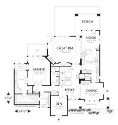 Image for Kenison-5 Bedroom Prairie Plan with Wine Cellar-Main Floor Plan