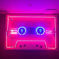 Cassette neon light