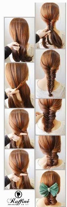 Learn Fish Tail Hair Braiding Idea    #bride #hair