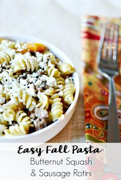 fall pasta? Look no farther than this butternut squash and sausage ...
