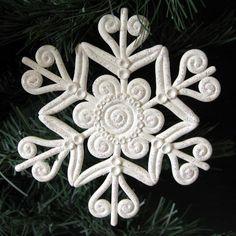 Modificar descripción polymer clay snowflake tutorial - Buscar con Google