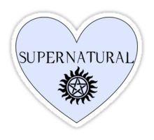 Supernatural Heart Sticker