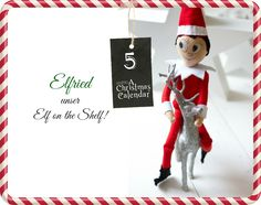 our handemade elf on the shelf :)