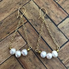 A personal favorite from my Etsy shop https://www.etsy.com/listing/542634701/freshwater-white-pearls-dainty-gold