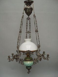 Petrolejová lampa - stahovací | Lustry – svícny | Starožitnosti - Galerie USTAR