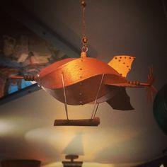 Happy little #steampunkairship #christmasornaments are so much fun! #repurposedart #stephanjsmith #artsmithcraftworks #drsteampunk #christmastime #steampunkornaments #flintsteampunk #christmasbulbs