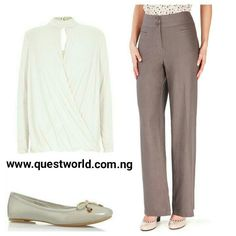 Wrap #Top size 6 10 #5000 Linen #Trousers size 12 14 16 20 #5500 #shoe size 40 4500 www.questworld.com.ng Nationwide delivery. Pay on delivery in Lagos