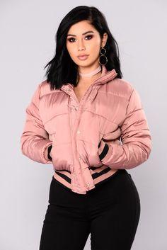 Mrs. Jackson Puffer Jacket - Light Pink