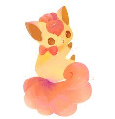 Pokemon - Pretty Little Vulpix 150 Pokemon, Pokemon Fan, Cute Pokemon, Kawaii Doodles, Cute Illustration, Digital Illustration, Digimon, Chibi, Pikachu