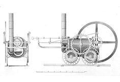 Trevithick Coalbrookdale locomotive, 1803 British Railway Locomotives 1803 1853