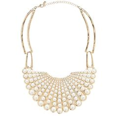 Pippa Pearl Bib Necklace - Forever New (33 CAD) ❤ liked on Polyvore featuring jewelry, necklaces, pearl necklace, pearl jewellery, pearl bib necklace, pearl jewelry and bib necklace