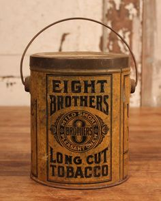 Eight Brothers Long Cut Tobacco tin