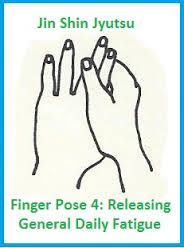 Hold pointer and middle finger to help your body let go of fatigue!