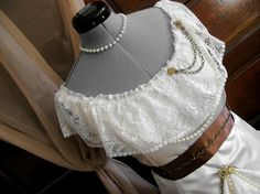 Steam punk Wedding Dress with Gears and lace