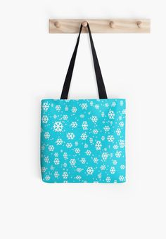 Snow is the Way to Go Pattern Tote Bags