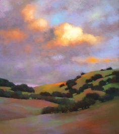 teresa saia paintings | Breaking Skies (pastel) by Teresa Saia