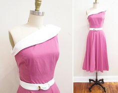 Vintage 50s jurk / jaren 1950 katoen kleding door WhenDecadesCollidĞ