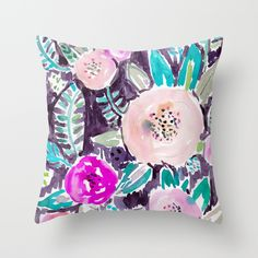 Buy Gardens of Rockridge Floral Throw Pillow by Barbarian / Barbra Ignatiev. Worldwide shipping available at Society6.com. Just one of millions of high quality products available.