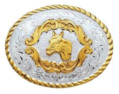 (MS5000HH) Small Horse Head Western Belt Buckle