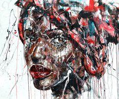 AFRICAN 2 Acrylique fusain & pigments sur toile 120x100cm 2016 http://www.lucile.callegari.fr