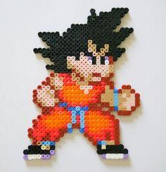Goku (DBZ) - Perler Hama Beads by yolei-s.deviantart.com on @DeviantArt - Visit now for 3D Dragon Ball Z shirts now on sale! Perler Beads, Perler Bead Art, Pixel Art, Bead Crafts, Diy And Crafts, Dragon Ball Z Shirt, Beading For Kids, Fusion Beads, Iron Beads