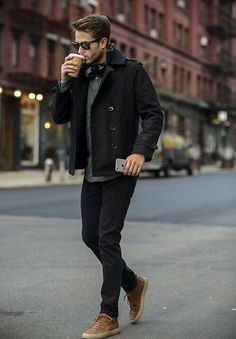 A great looking Fall / Winter outfit that exudes professionalism. The layering is key in this outfit.