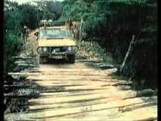 2.4 VM motori Turbo diesel engined Range Rovers negotiate a bridge during Trophy 87 in Madagascar