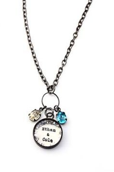 Mothers Custom Birthstone Necklace