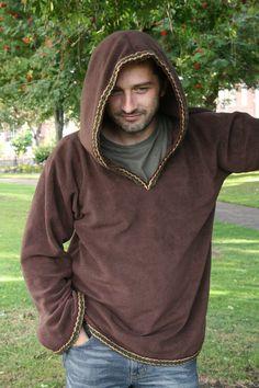 Cool looking hoodie with nice trim. listing at http://www.etsy.com/listing/77706736/hoodie-for-men-medieval-hoodie-game-of