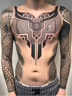 Search inspiration for an Ornamental tattoo. - Tattoos - - Search inspiration for an Ornamental tattoo. Geometric Tattoo Chest, Geometric Tattoos Men, Tribal Tattoos For Men, Tattoos For Guys, Small Tattoos, Couple Tattoos, Tattoo Designs For Girls, Tattoo Sleeve Designs, Sleeve Tattoos