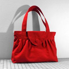 Hey, I found this really awesome Etsy listing at https://www.etsy.com/listing/90171305/pleated-handbag-with-flap-closure-in-red