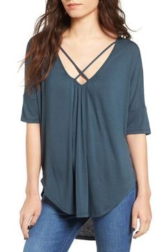 Lush Cross Front Oversize Tee available at #Nordstrom