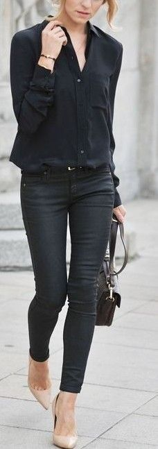 All Black + Touch of Nude                                                                             Source
