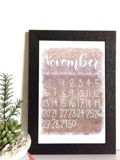 November Calendar Pack, Printable and Digital – Fourteen Designs November Calendar, Iphone Wallpaper Images, Calendar Design, Iphone Photography, Instagram Tips, Christmas Shopping, Printables, Packing, Design Shop