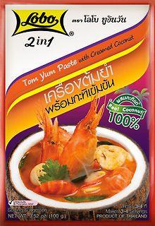 Spicy Soup  5x100g. THAI FOOD TOM YUMCombine soup with coconut milk Lobo 2IN1  #Lobo