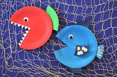Pappteller-Fische