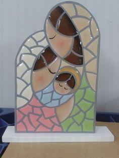 Sagrada familia mosaico Tile Art, Mosaic Art, Mosaic Glass, Mosaic Tiles, Christmas Mosaics, Christmas Nativity, Christmas Art, Mosaic Crafts, Mosaic Projects