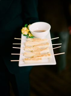 French toast sticks by Windows Catering    Event Design: Amber Karson Events  Photo by: Abby Jiu