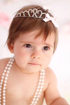 baby girl with tiara - Google Search