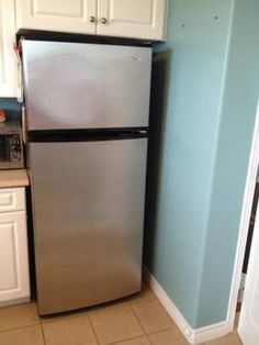 Fridge nooks are usually designed for larger fridges, so we had a little room to…