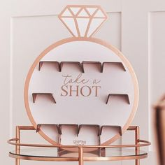 Rose Gold Bachelorette Party Drinks Shot Wall Hen Party Decorations, Bachelorette Party Decorations, Bridal Shower Decorations, Hens Party Themes, Gold Decorations, Party Ideas, Classy Hen Party, Hen Party Games, Hen Games
