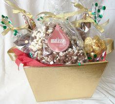 Matisse Chocolatier - Gourmet Chocolate Gift Basket Gold Leather Look , $35.00 (http://www.getfreshchocolate.com/gourmet-chocolate-gift-basket-gold-leather-look/)