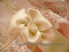 tutorial on decorative rosettes to attach ribbon to bonnets.
