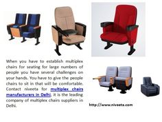 Contact Niveeta For Multiplex Chairs Manufacturers In Delhi It Is The Leading Company Of Office Furniture ManufacturersModular