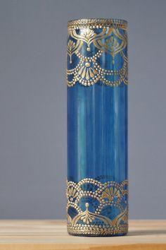 Vases marocains Blueberry vitres teintées avec des par LITdecor