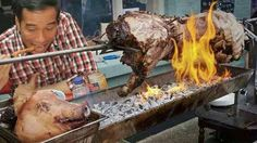Hasil gambar untuk gambar jokowi makan babi